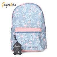Guapabien Waterproof Girls Traveling Preppy Style Print Women Backpack New Arrival Nylon Zipper School Bag Feminine