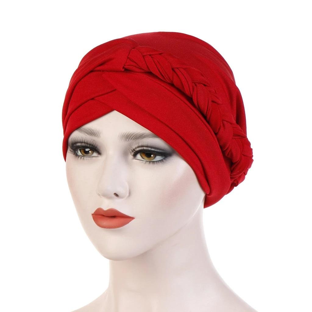 7 VIccoo Femmes Inde Turban Chapeau Bandeau Musulman Longue Queue Foulard Color/é G/éom/étrique Imprim/é Floral Africain Stretch Beanie Chemo Cap