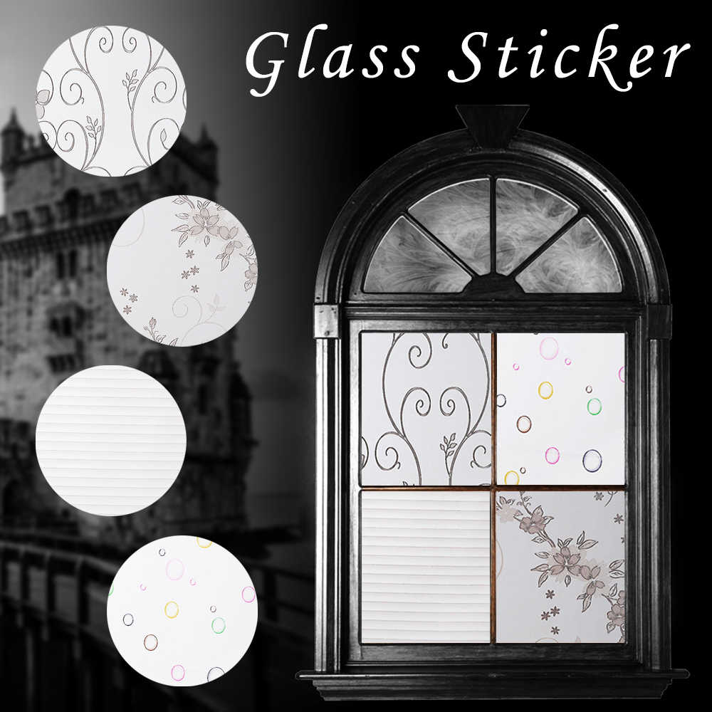 1Pc עמיד למים אטום חלבית זכוכית חלון סרט כיסוי חלון פרטיות דבק זכוכית מדבקות בית חדרי שינה דקורטיבי סרט