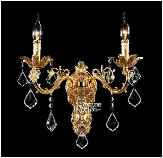 Whole Golden Crystal Wall Light Fixture Silver Sconces Lamp Brackets Chandelier Free Shipping