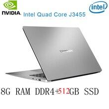P2-41 8G RAM 512G SSD Intel Celeron J3455 NvIDIA GeForce 940M Gaming laptop keyboard and OS language available for choose