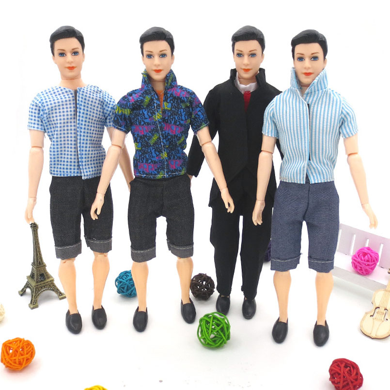 14 Movable Joints 30cm Doll Boyfriend Male 3D Eyes Dolls Toys For Children Kid Prince Clothes Dress Suit Clothing Gifts For Baby