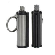 10pcs/lot waterproof universal Outdoor Survival magnesium rod lighter Flint Stone match