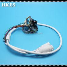 HKES Wholesale 12pcs/lot New Arrival POE CCTV Camera Module with 3.7mm LENS IP Cam POE Mini