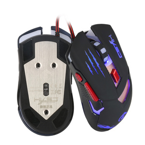 Image 5 - HXSJ H400 LED Backlight Metal Base Wired Gaming Mouse 6 Buttons LED Programming Competitive Games Mice for Computer