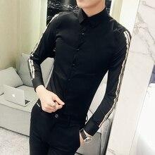 Новая мода горячая Распродажа бренд весна осень Мужская Повседневная Высококачественная легкая верхняя одежда мужская Тонкая Корейская Стильная однотонная рубашка