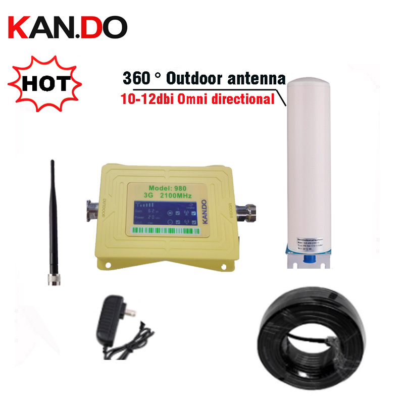 3G Repeater Amplifier 3g WCDMA 2100 Cellular Signal Booster 2100mhz Band 1 With LCD Display Mobile Cell Phones Signal Repeater