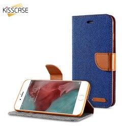KISSCASE Stand portefeuille Flip étui pour iPhone 6 6 S 7X5 S se mode couleur fente pour carte couverture en cuir pour iPhone X 7 6 6 s Plus 5 S 5 SE