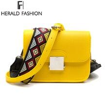 Herald модный бренд Курьерские сумки Для женщин клапаном из искусственной кожи Сумки на плечо с двумя ремешками высококачественные шлепанцы; горячая Распродажа Сумки через плечо