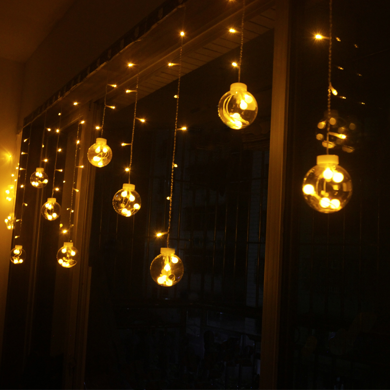Christmas 3m Droop 0.8m curtain LED Fairy tale string lights 220V outdoor Romantic Decoration New year Garden Xmas Wedding Party