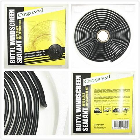 Noir Serpent Butyle Synthétique En Caoutchouc Colle Auto Phare Projecteur Rénovation Orateur Pare-Brise Adhersive Mastic 9.5mm * 4.57 m
