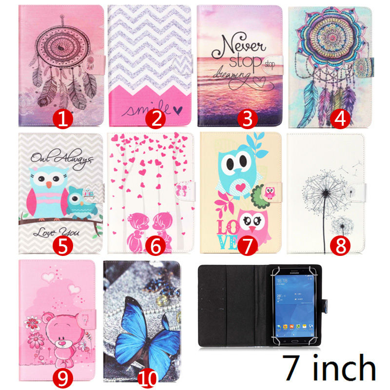 Printed Leather case For ASUS Google Nexus 7 For Huawei MediaPad 7 Youth 2 S7-721U 7.0 inch Universal tablet covers S4A67D