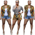 2017 Primavera Duas Peças Set Cera Top e Calças Mulheres Ternos duas Peças Set Mulheres Africanas Roupas Plus Size 6xl Marca Personalizado WY703