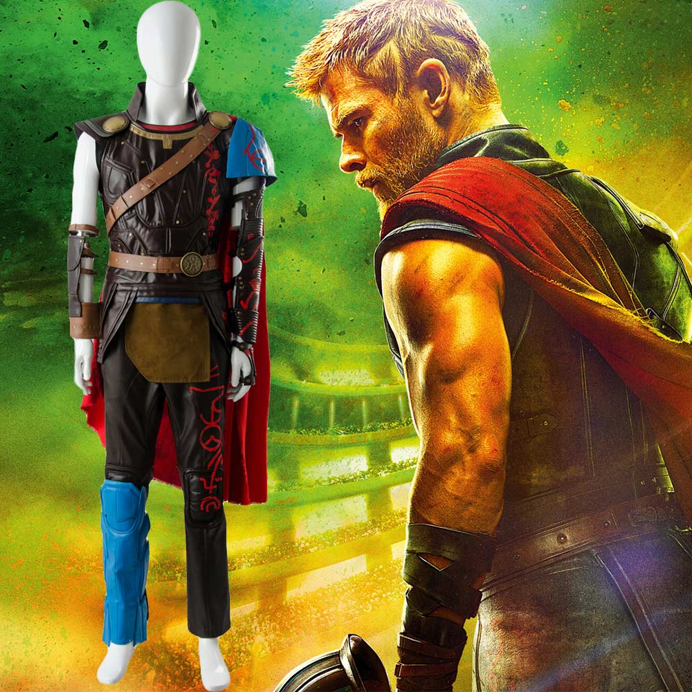 The Avengers Thor 3 Ragnarok Cosplay Arena Gladiator Costume Battle Suit Cosplay Outfit Sets Halloween Carnival Costume Adult