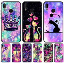 Luxury Starry sky bling Floral For Huawei P8 P10 P20 P30 Mate 10 20 Honor 8 8X 8C 9 Lite Plus Pro Case Cover Coque Etui Funda