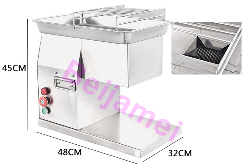 Beijamei 400kg/H Stainless Steel Multifunctional Cutter Cutting Meat Machine Commercial Electric Sliced Meat Shredded Maker