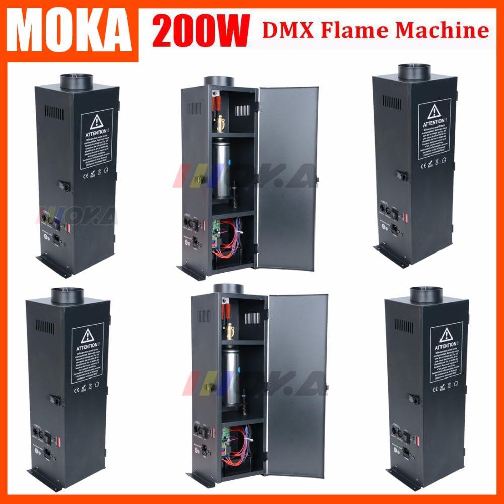 6 Pcs/lot Factory Direct Sale stage dmx flame machine dj equipment fire fixture DMX Fire Jet Projector все цены