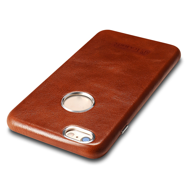 ICARER Business Style Retro Genuino Real Leather Logo Full Cover - Accesorios y repuestos para celulares - foto 6