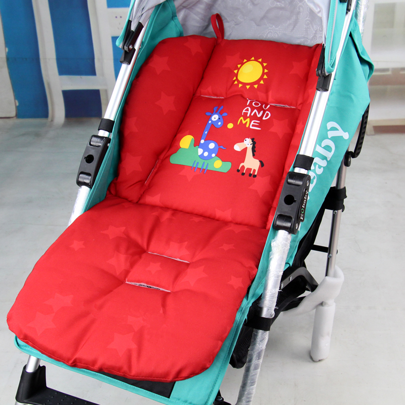 Cheap New Baby Stroller Cushion, Cute Cartoon Kids Infant Dining Chair Pad Pushchair Cotton Thick Car Seat High Chair Mat