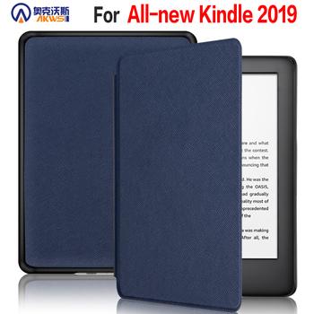 Dla przypadku Kindle 2019 10 Generacji Ereader Ultra cienkie etui dla wszystkich nowych Kindle Touch automatyczne uśpienie obudzić powłoka ochronna tanie i dobre opinie NoEnName_Null Powłoka ochronna skóry CN (pochodzenie) amazon kindle 10th generation 2019 Solid 11 5cm For Amazon Kindle
