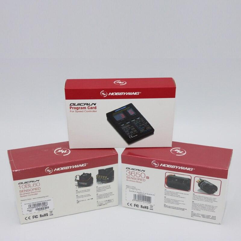 1 zestaw obsługi Hobbywing QUICRUN 3650 z czujnikiem G2 silnik + 10bl60 czujnik ESC + karta dla 1/10 1:12 Rc samochodów ciężarowych + pudełko w Części i akcesoria od Zabawki i hobby na  Grupa 1