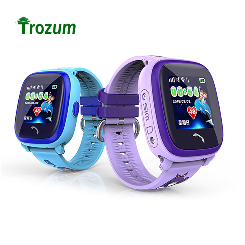 Trozum Kids Watch Baby GPS DF25 Smart Phone Dial Watch Smartwatch SOS Calls Device Location Tracker Safe Anti-Lost Monitor smart baby watch q60 детские часы с gps розовые