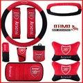 10 Pçs/lote Premier League Arsenal Football Club Tampa Da Roda de Direcção Do Carro Decoração Automóvel para Fã de Futebol Kit para Carro Auto 38 CM