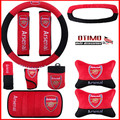 10Pcs/Lot Premier League Arsenal Football Club Car Steering Wheel Cover Automobile Decoration for Football Fan Auto Car Kit 38CM