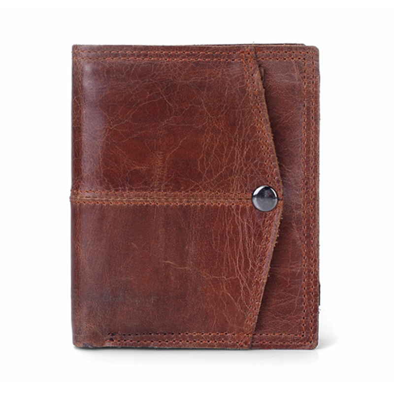 Hot Sale Genuine Cowhide Leather Men Wallets Premium Dollar Price Short Style Male Purse Brand With Card Holder Vintage Designer hot sale 2015 harrms famous brand men s leather wallet with credit card holder in dollar price and free shipping