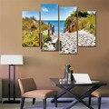 Cuadros Decoracion тихий пляж холст печать современные 4 панели Живопись стены Искусство куадро для гостиной Peinture Sur Toile