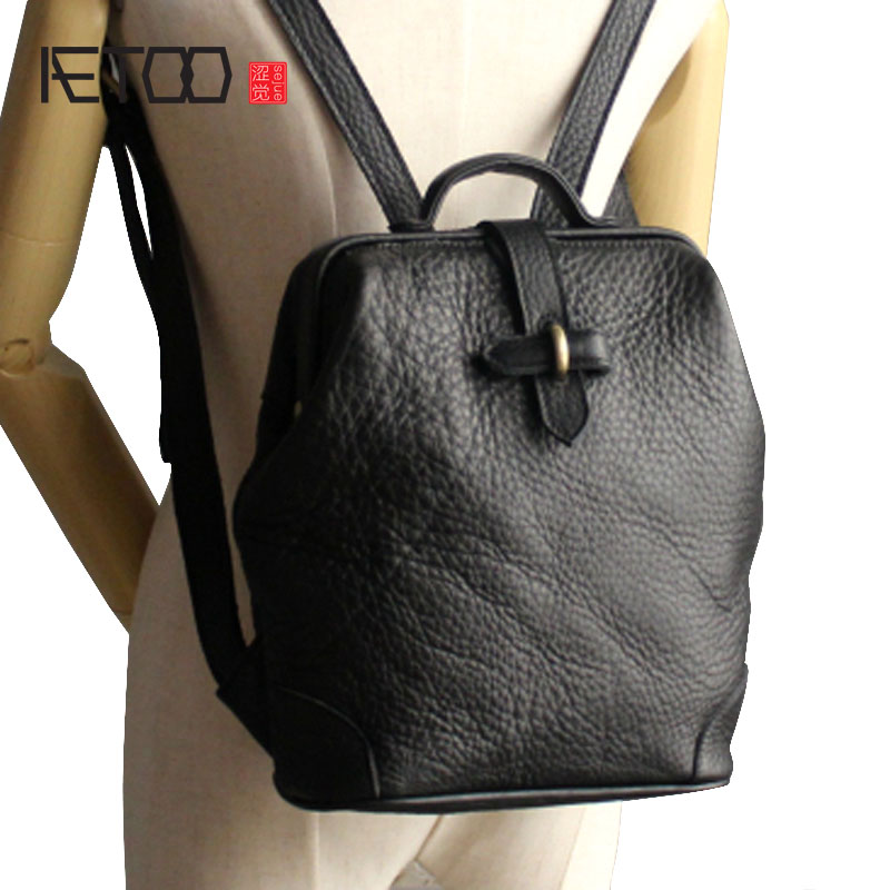 AETOO Original Hand Shoulder Bag Female Dermatologist Bag Japanese Korean Simple Wild Top Cowhide English College