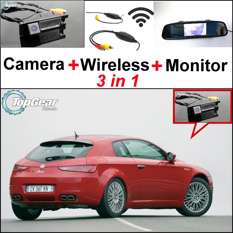 3 in1 Special WiFi Rear View Camera + Wireless Receiver + Mirror Monitor EASY DIY Parking System For Alfa Romeo Brera Spider 3 in1 special rear view camera wireless receiver mirror monitor easy diy backup parking system for jeep liberty 2002 2007