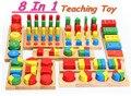 Frete grátis! Brinquedos do bebê Educacional Bloco Brinquedos De Madeira Montessori Brinquedo Bloco de Construção de Brinquedos de presente