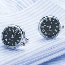 Steampunk Real Quartz Watch Cufflinks in a Presentation Gift Box Drop shipping