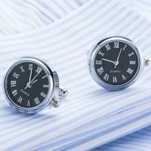 Steampunk Real Quartz Watch Cufflinks in a Presentation Gift Box Drop shipping