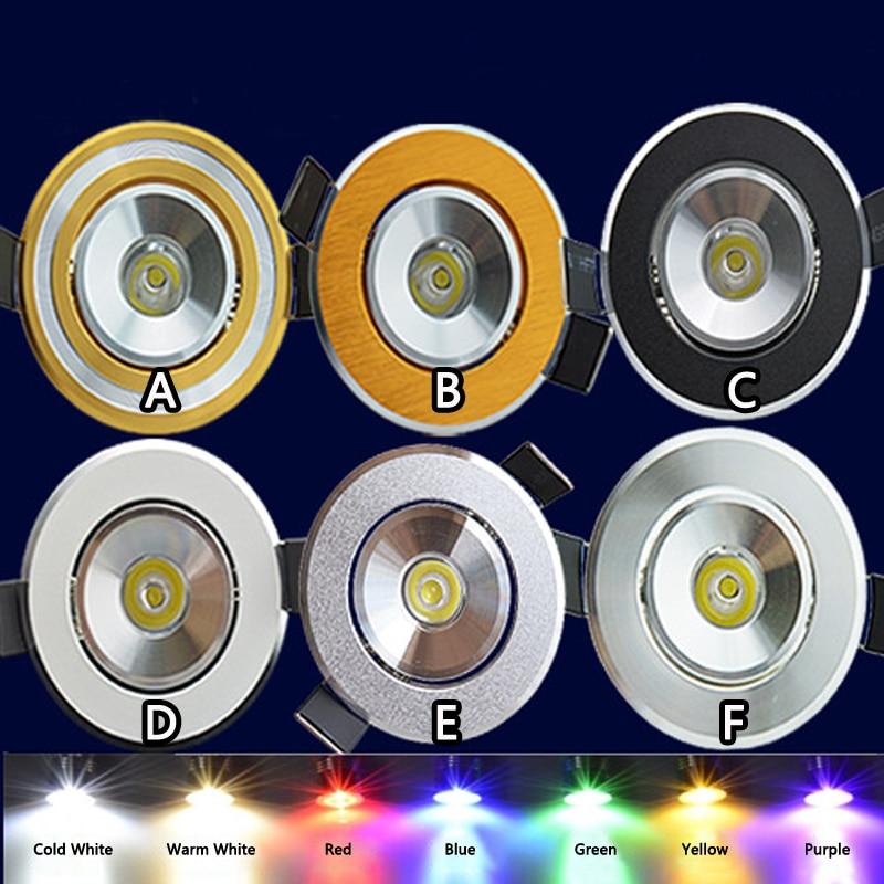 10pcs/Lot Free Shipping 1W LED Ceiling Light 110V 220V LED Chip Epistar LED Ceiling Spotlight