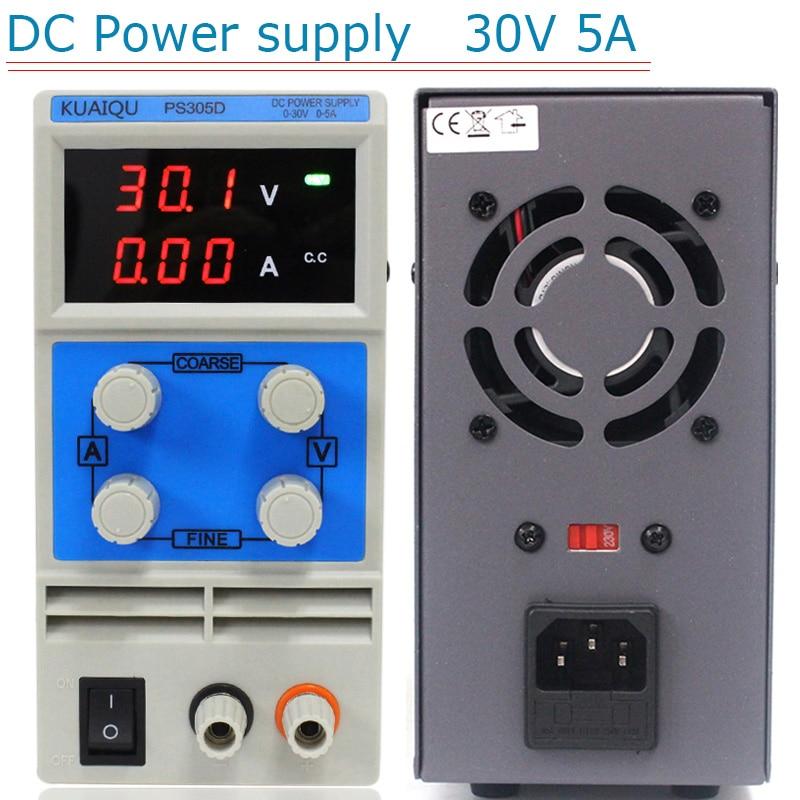 Переключатель лабораторный DC питание 30 в 5A 0,1 в 0.01A однофазный регулируемый SMPS цифровой регулятор напряжения мини DC питание