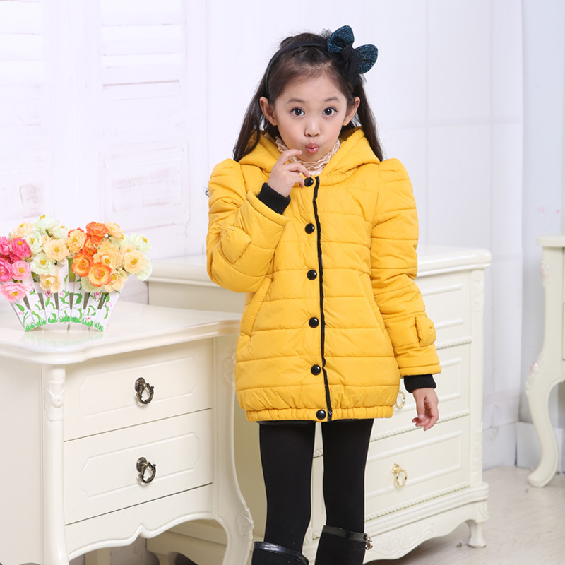 Free shipping Winter new arrival girl long single-breasted hooded cotton-padded clothes coat girl outerwear children clothing free shipping boruoss 2015 new fashion winter cotton coat women short single breasted coat boruoss w1292