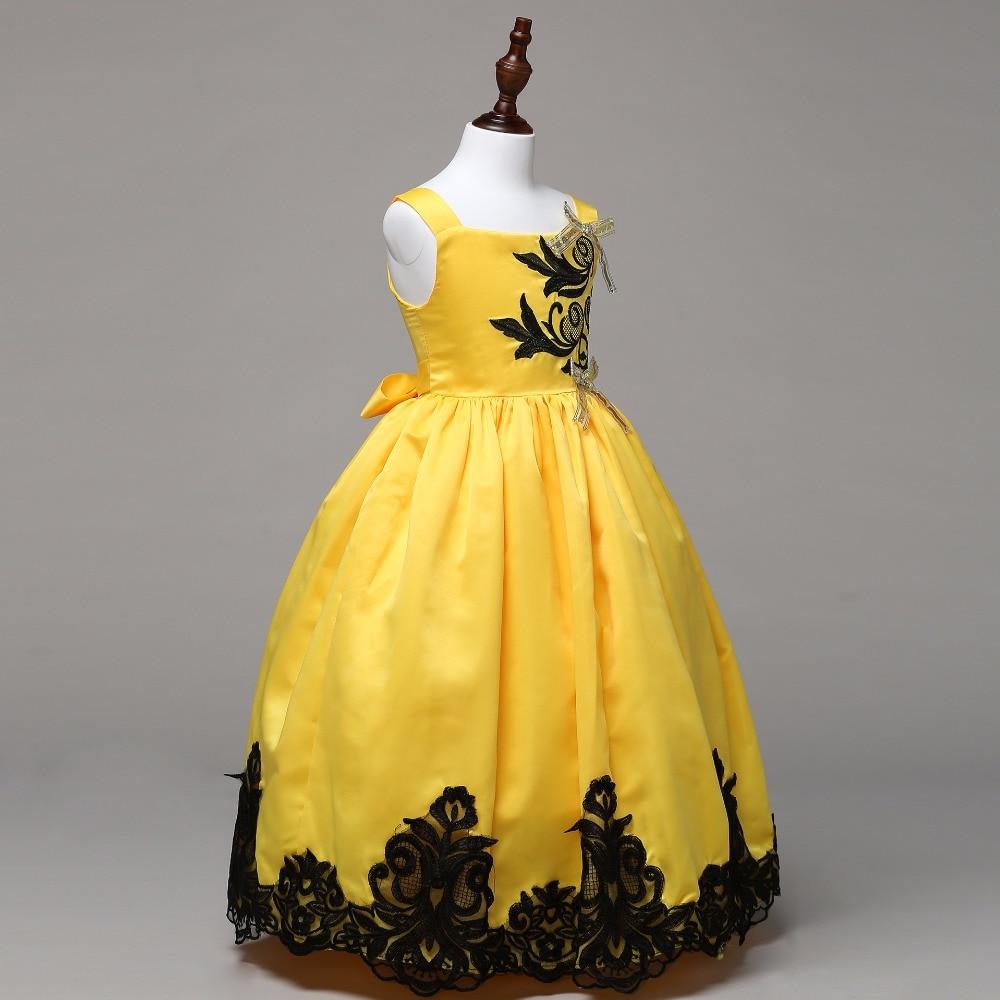 Hochzeitskleid Mädchen Party Zeremonie Sleeveless Prinzessin Kleid ...