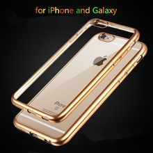 Top Quality Electroplated Soft Clear Cases For Apple iphone 6 6S 4 7 6 6s Plus