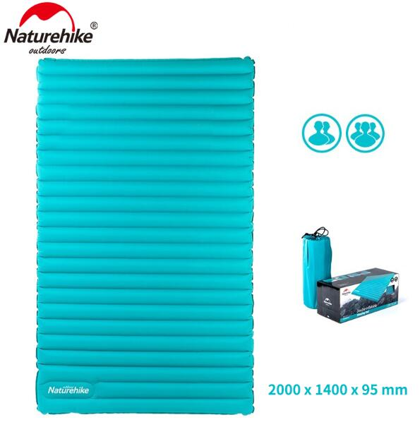 Naturehike Outdoor Air Mattress 3 Person Double Inflatable Cushion Camping Mat 9.5CM Inflatable Mattress  Sleeping Pad Air BedNaturehike Outdoor Air Mattress 3 Person Double Inflatable Cushion Camping Mat 9.5CM Inflatable Mattress  Sleeping Pad Air Bed