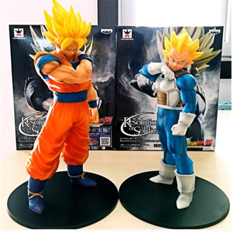 Set Dragon Ball Z Fusion Son Goku Gogeta Super Saiyan Awakening Pai Pvc Anime Figure Collection Dbz Gohan Trunk Model Rj Elegant And Graceful Action & Toy Figures 2 Pcs