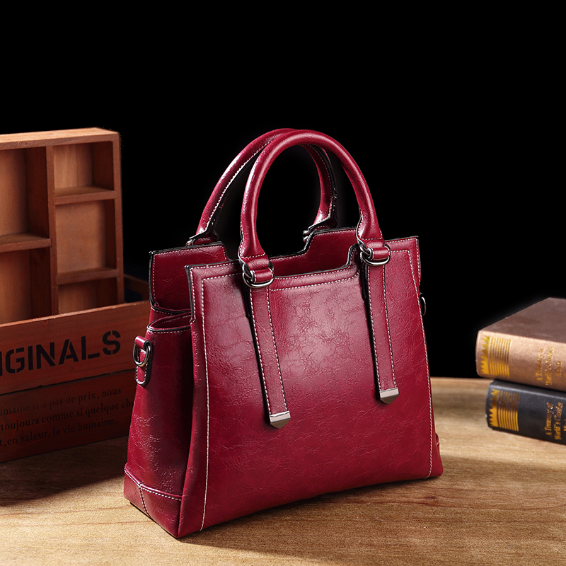 Bolsa de Couro Genuíno das Senhoras Bolsa de Luxo Designer de Couro Original para Mulheres Senhoras do Vintage Famosa Marca Bolsa Tote Feminino T63