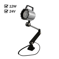 Factory Outlet 12W 24VDC LED Spot Light Water Proof CNC Machine Tool Working Lamp Long Turning