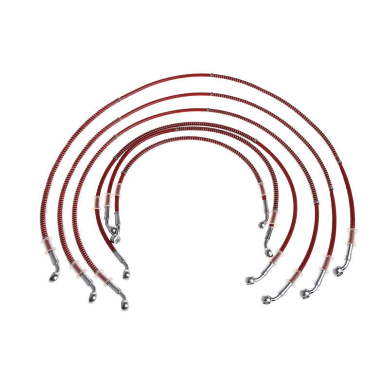 Universal Motorcycle 500mm-1500mm Braided Steel Hydraulic Brake Clutch Oil Hose Line Pipe red 1500mm 2000mm 2300mm motorcycle brake pipe tubing braided steel hydraulic reinforced brake or clutch oil hose line pipe