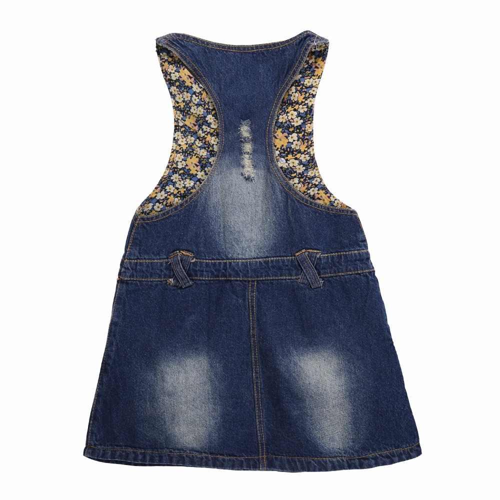 Pettigirl 2019 Sleeveless Denim Baby Girl Princess Dress Patchwork Sundress For Girls Summer Autumn Jeans For Kids GD80922-02