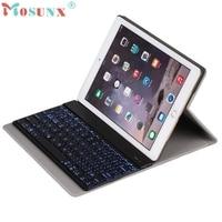 7 Colors Backlight Keyboard Ultra Thin Aluminum Bluetooth Keyboard Case For IPad Air2 Pro9 7 U0227