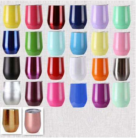 30pcs 12oz egg cups wine glass 12oz wine tumbler double wall stainless steel Beer Vacuum Insulated