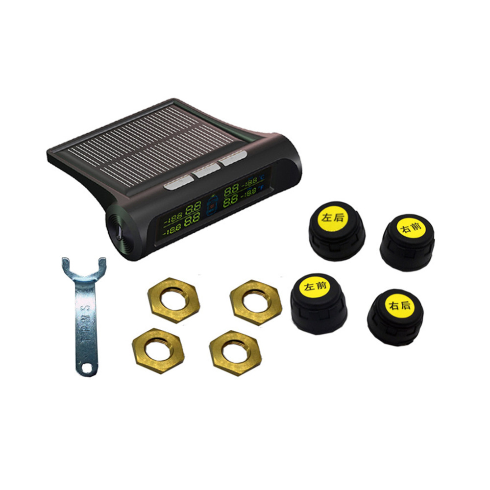 IZTOSS Car Wireless Tire Tyre Pressure Monitoring System Solar Power font b TPMS b font LCD