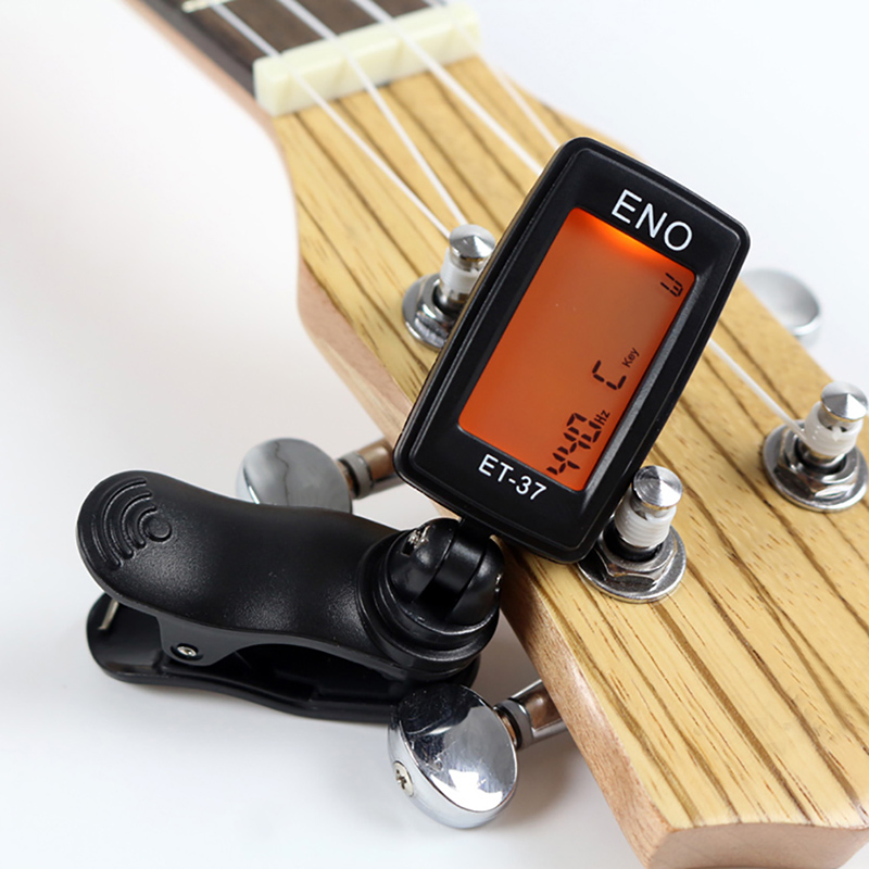 musical chromatic clip on digital tuner for acoustic electric guitar bass violin ukulele guitar. Black Bedroom Furniture Sets. Home Design Ideas